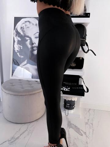 Ocieplane modelujące legginsy Black