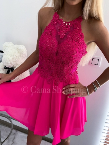 Sukienka Mercedes Amarantowa