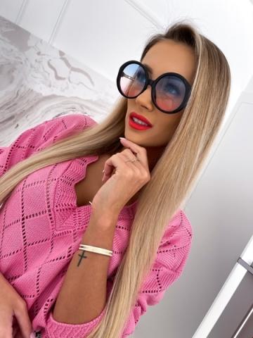 Okrągłe okulary Blue-Pink Luxury