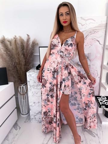 Morelowa sukienka Maxi Dorjana