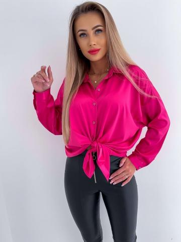 Różowa koszula Oversize