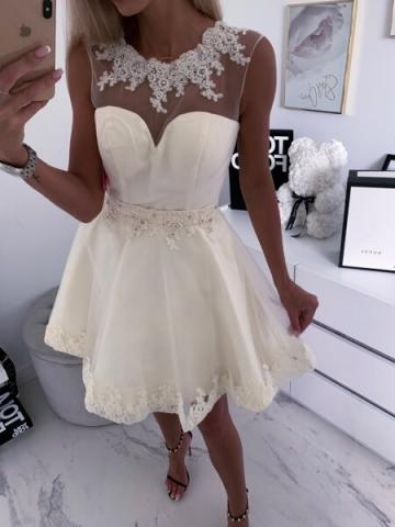 Sukienka Kremowa RONIA