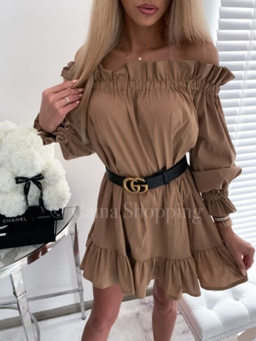 Karmelowa Sukienka LALI