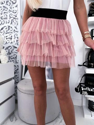 Różowa spódniczka tiulowa