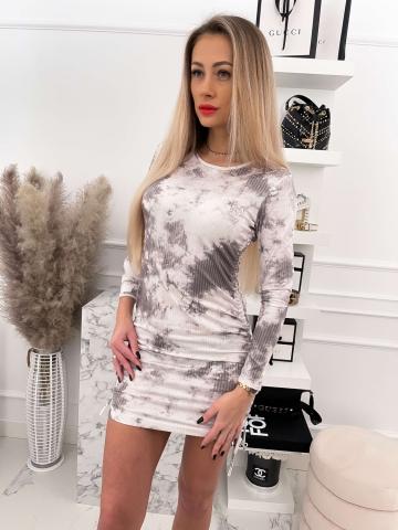 Dopasowana sukienka ze ściągaczami Oliwka