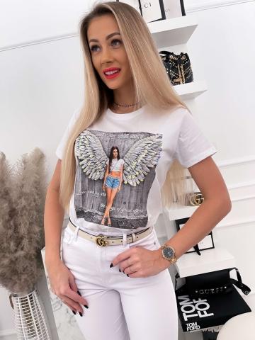 Biały T-shirt Women Angel