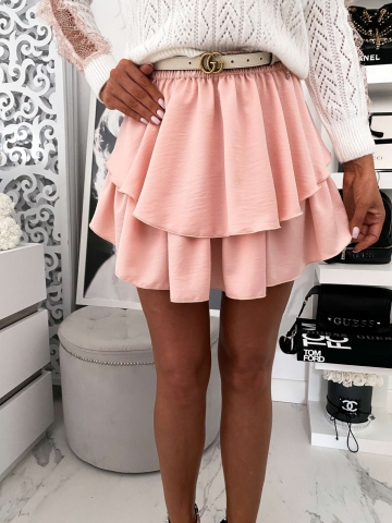Różowa rozkloszowana spódniczka Lou