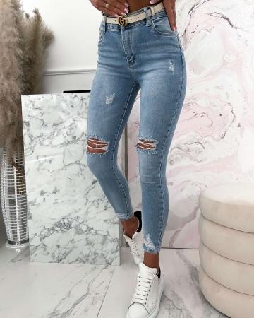 Spodnie Sara Jeans z przetarciami