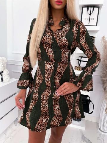 Sukienka Khaki-panterkowa Milano