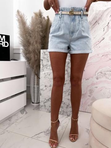 Szorty Jeans z wysokim stanem