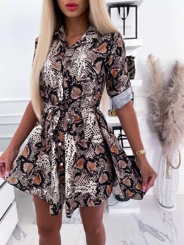 Sukienka koszulowa wężowy wzór