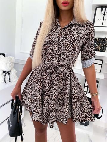 Sukienka koszulowa Animal Print