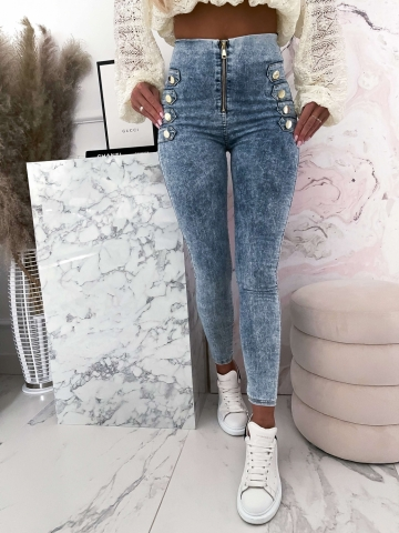 Elastyczne marmurkowe spodnie DJUK
