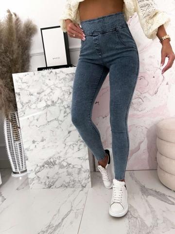 Niebieskie marmurkowe spodnie Push-up Mielczarkowski