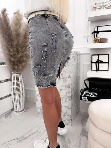 Spódnica Gray Jeans z przetarciami