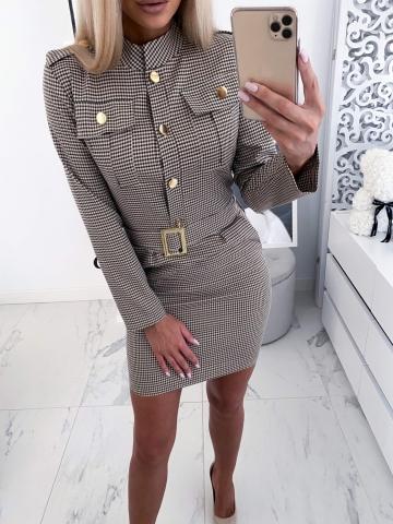 Sukienka Militarna w kratę