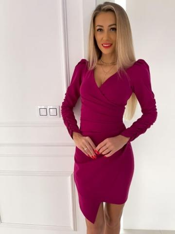 Sukienka Purpura z dekoltem