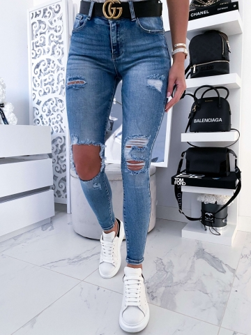 Spodnie Jeans Blue dziury