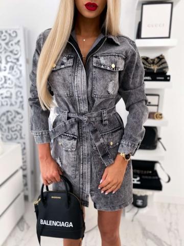 Dżinsowa Sukienka London Look