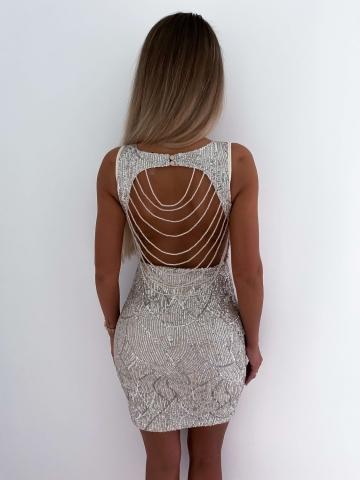 Sukienka cekinowa  Silver - Kameleon