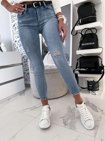 Spodnie Jeans Blue z przetarciem
