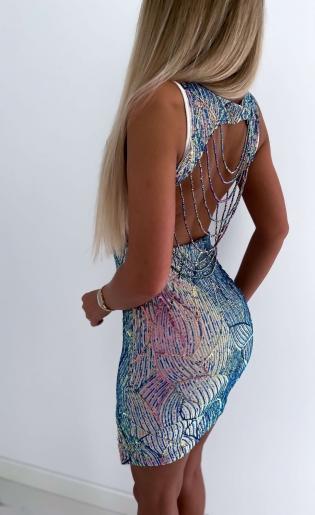 Sukienka cekinowa Magic Kameleon