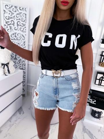 Czarny T-shirt ICON
