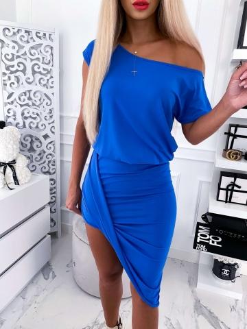 Chabrowa Asymetryczna Sukienka