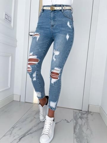 Spodnie z dziurami Blue Push-Up