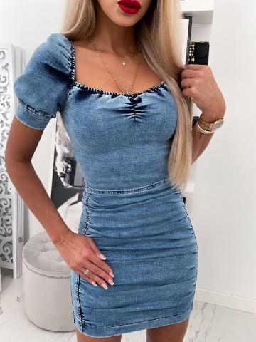 Sukienka Jeans BLUE IVY