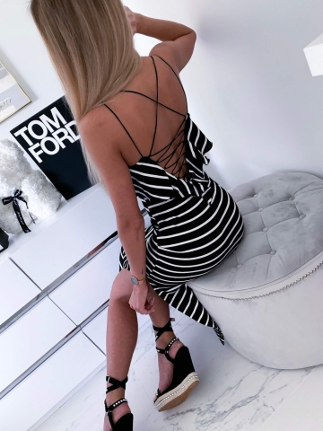 Sukienka Letnia w paski Maxi