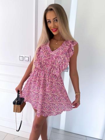 Różowa sukienka Miluna Kwiatowy Print