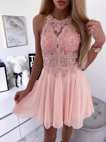 Sukienka Mercedes Pudrowy Róż