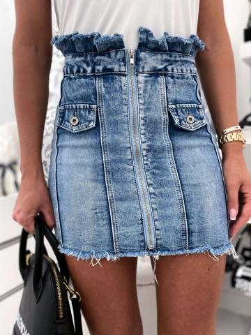 Spódniczka Jeans Zip