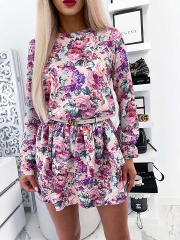 Sukienka LILI CREME kwiatowy print