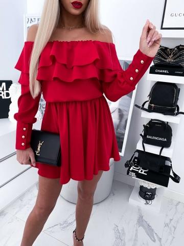 Czerwona Sukienka Hiszpanka LISA