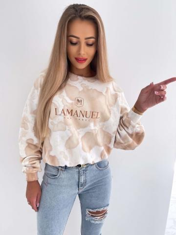 Bluza w łaty oversize La Manuel