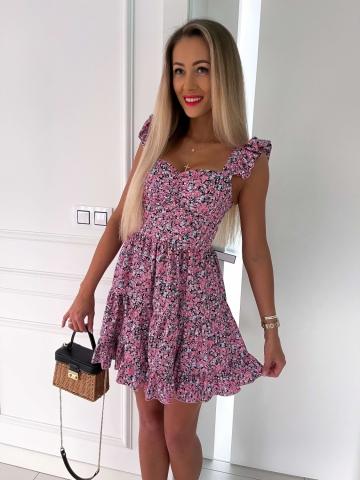 Sukienka rozkloszowana Katris w drobne kwiaty