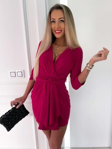 Sukienka tulipan purpurowa Greta
