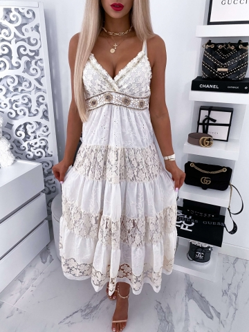 Sukienka Maxi Boho na ramiączkach