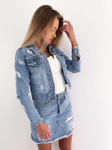 Kurtka Jeans z przetarciami