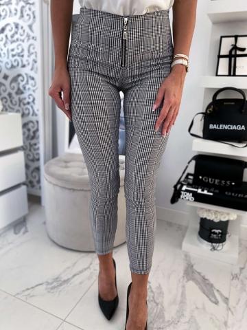 Spodnie w kratkę zip
