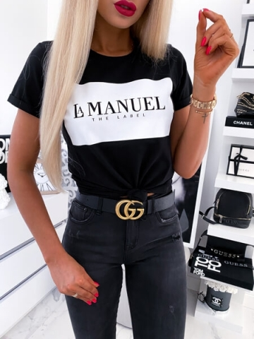 Czarny t-shirt La Manuel