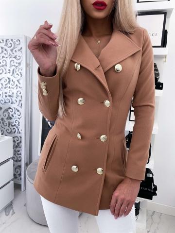 Karmelowy płaszcz LUX