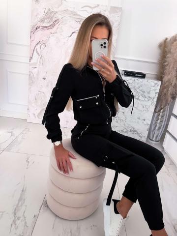 Komplet Czarny Bluza+Spodnie Emili