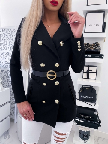 Czarny płaszcz LUX