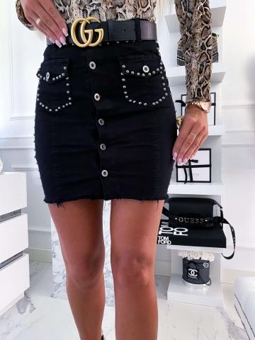 Czarna spódnica Nity z kieszonkami