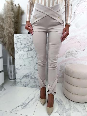 Beżowe damskie spodnie Dragonfly