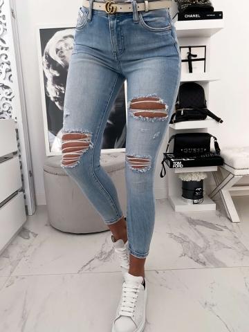 Spodnie Blue Jeans z przetarciami Quen