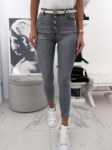 Szare spodnie guziki Redial